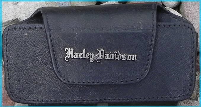 harley davidson handy tasche mit harley logo aus leder. Black Bedroom Furniture Sets. Home Design Ideas