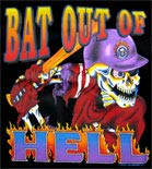 Preview: Langarmshirt Totenkopf Bat out of Hell