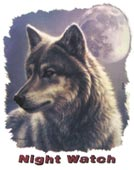 Preview: T-Shirt Wolf Night Watch