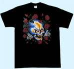 Mobile Preview: T-Shirt Totenkopf/Rosen
