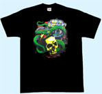 Mobile Preview: T-Shirt Schlange m. Totenkopf