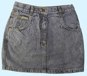 Mini-Jeansrock black