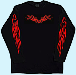 Langarmshirt Tribal Flame 3XL