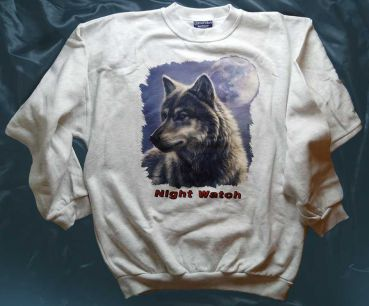 Sweatshirt grau Wolf Night Watch