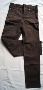 Lederhose Five-Pocket-Nubukleder braun