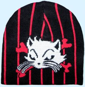 Strickmütze Hell Kitty