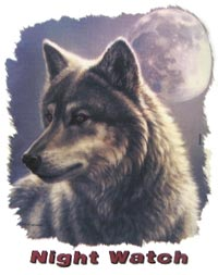 T-Shirt Wolf Night Watch
