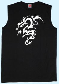 Fit-T-Shirt schwarz Tribal Drache