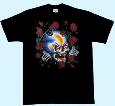 metal box t shirt in schwarz mit totenkopf rosen. Black Bedroom Furniture Sets. Home Design Ideas