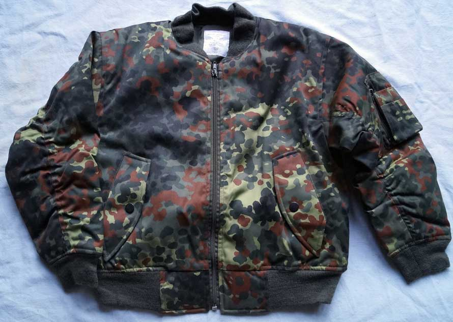 Kinder-Bomberjacke MA1 in flecktarn