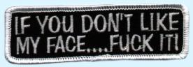 Patch If you don't like my face ..