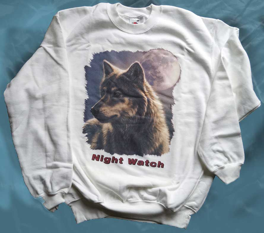 Sweatshirt weiß Wolf Night Watch