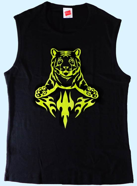 Damenshirt ärmellos Tiger mit Tribal