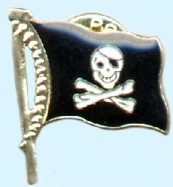 Anstecker Piratenflagge