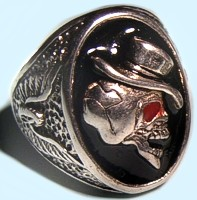 Ring Skull mit Hut