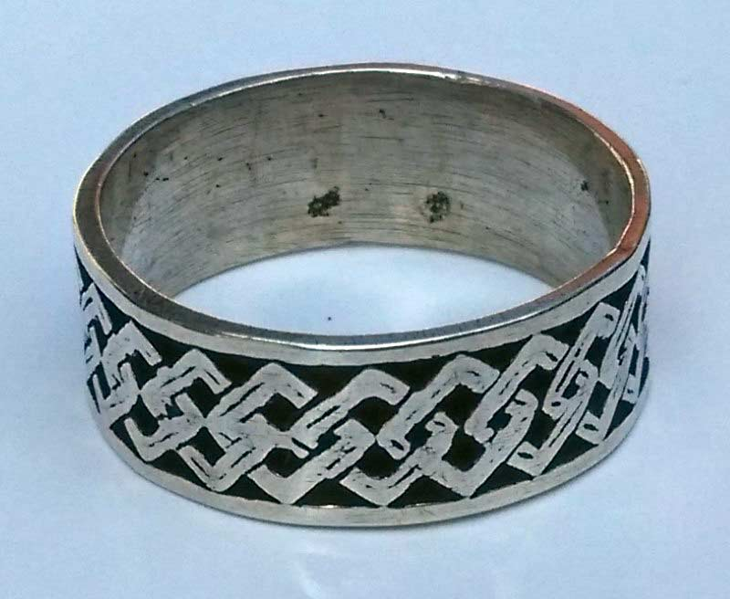 Bandring Silber mit Tribal
