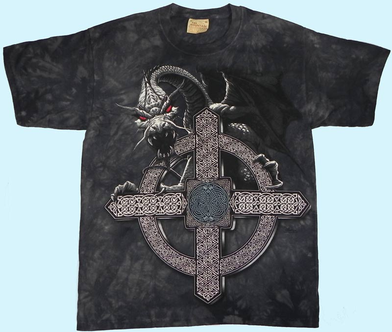 Mountain T-Shirt -Celtic Cross Dragon
