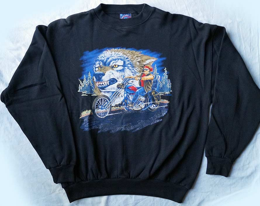 Sweatshirt-Wolf-Bike
