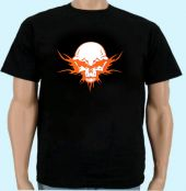Shirt Totenkopf Tribal orange 6XL