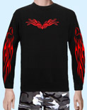 Langarmshirt Tribal Flame