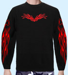 Sweatshirt Tribal Flame