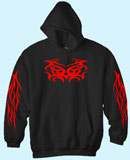 Kapuzensweat Tribal Trixy Red